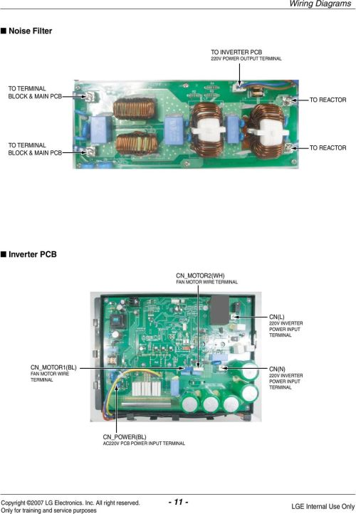 small resolution of wire terminal cn l 220v inverter pwer input terminal cn mtr1 bl fan