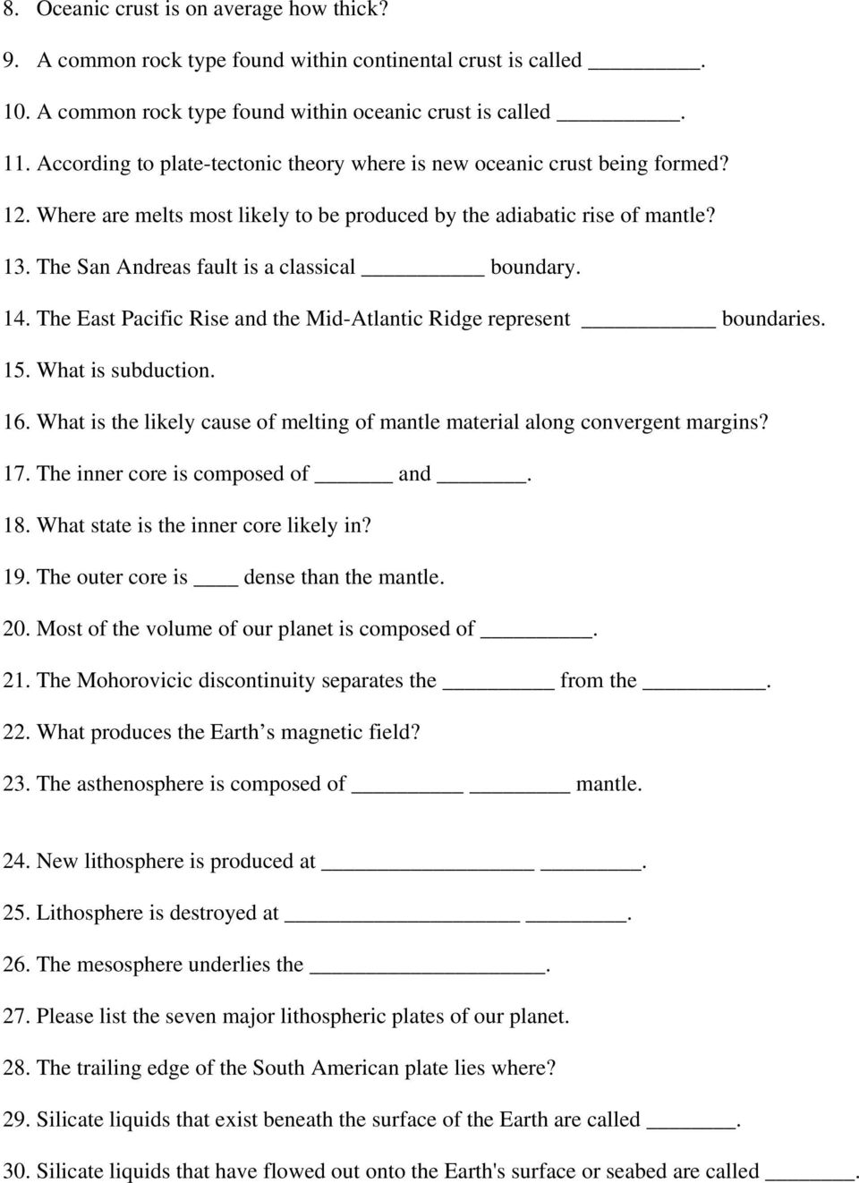 hight resolution of Plate Tectonics Practice Questions and Answers Revised August PDF Free  Download