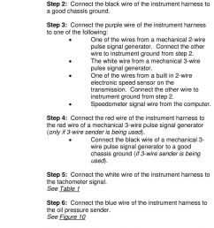 step 3 connect the purple wire of the instrument harness to one of the following [ 960 x 1496 Pixel ]