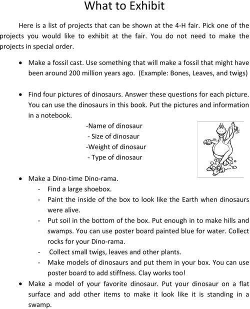small resolution of Mini Dinosaurs. Grades K 1 2. Compiled by - PDF Free Download