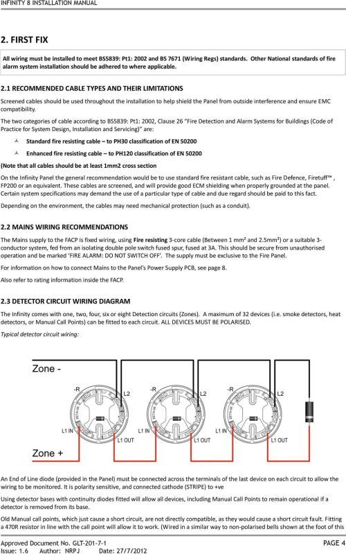 small resolution of infinity 8 installation manual fire alarm control panel installation figure 719 typical fire alarm system schematic diagram