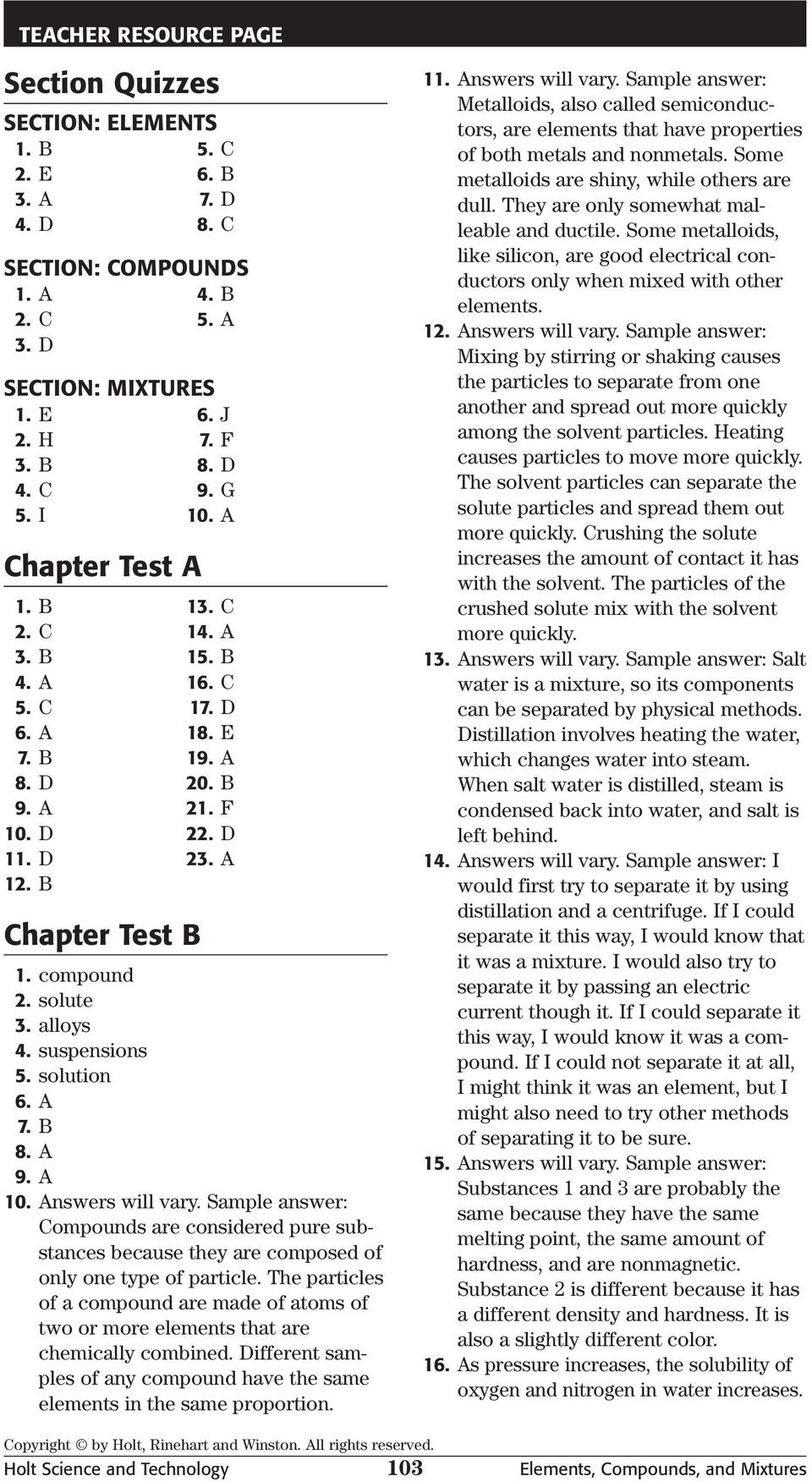 hight resolution of Chapter Test A. Elements