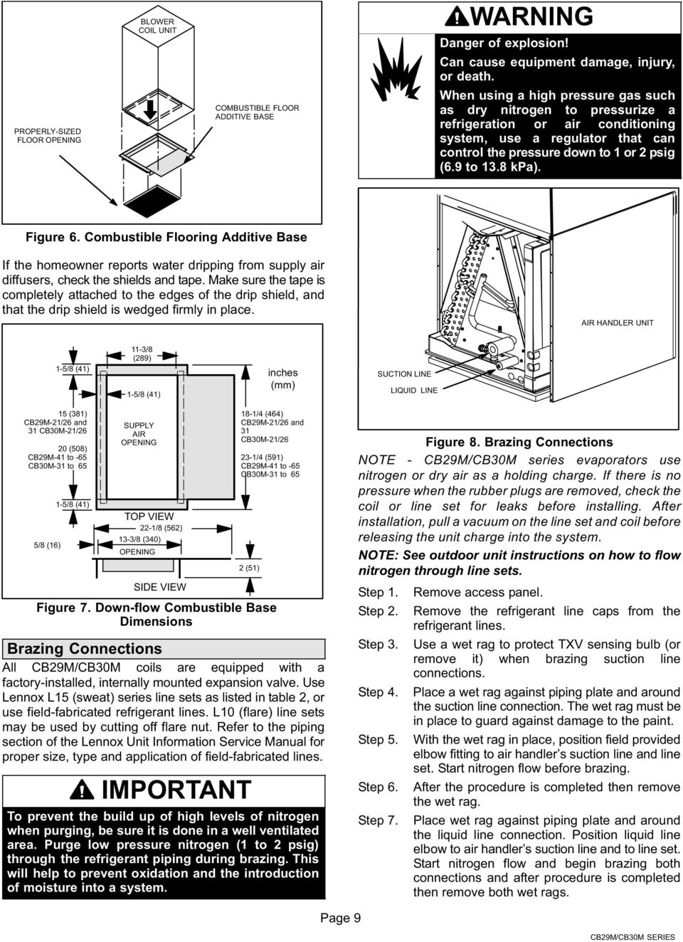 hight resolution of figure 6 combustible flooring additive base if the homeowner reports water dripping from supply air installation instructions