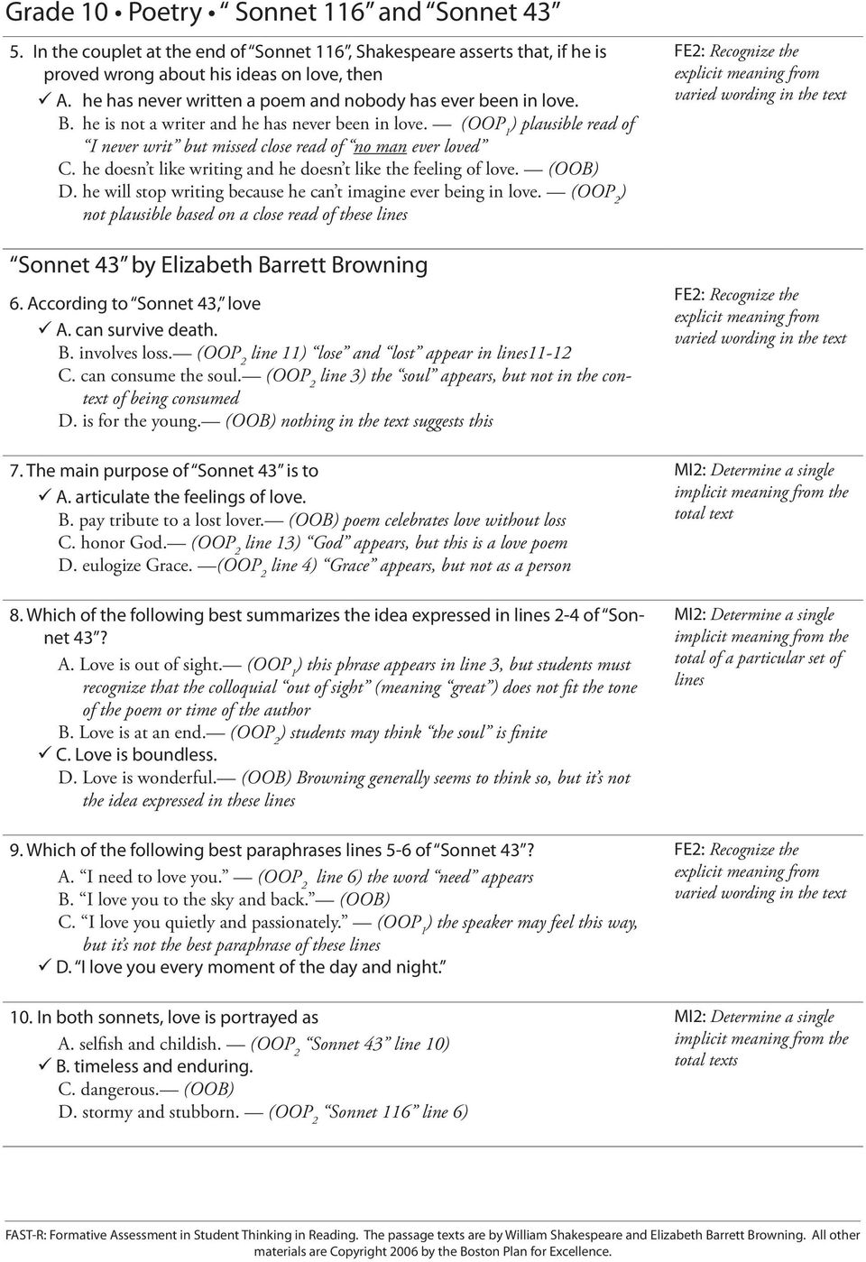 Commonlit Sonnet 18 Answer Key : commonlit, sonnet, answer, Sonnet, Worksheet, Answers, Nidecmege