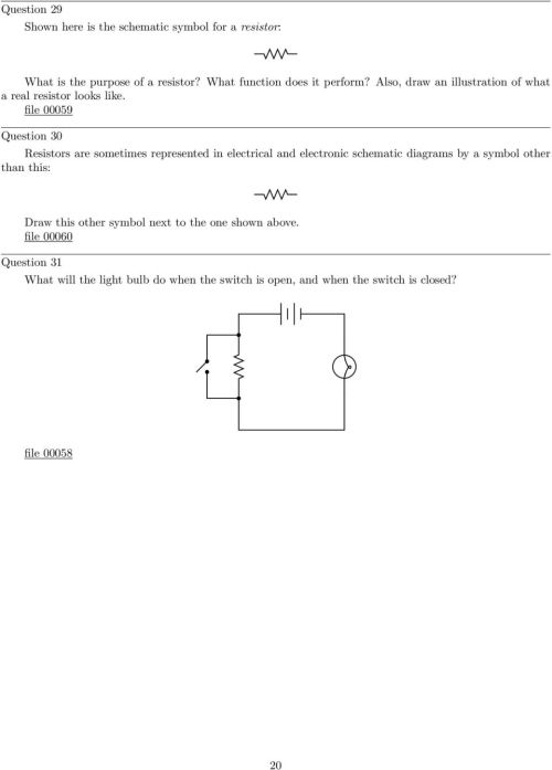 small resolution of file 00059 question 30 resistors are sometimes represented in electrical and electronic schematic diagrams by a