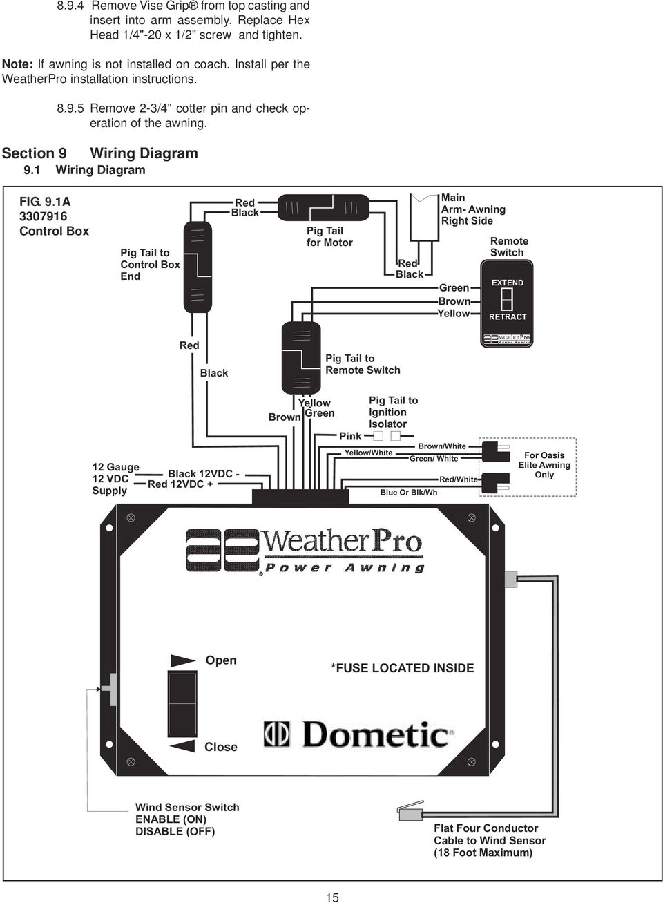 Carefree Awning Switch Wire Diagram 4 - carefree of colorado