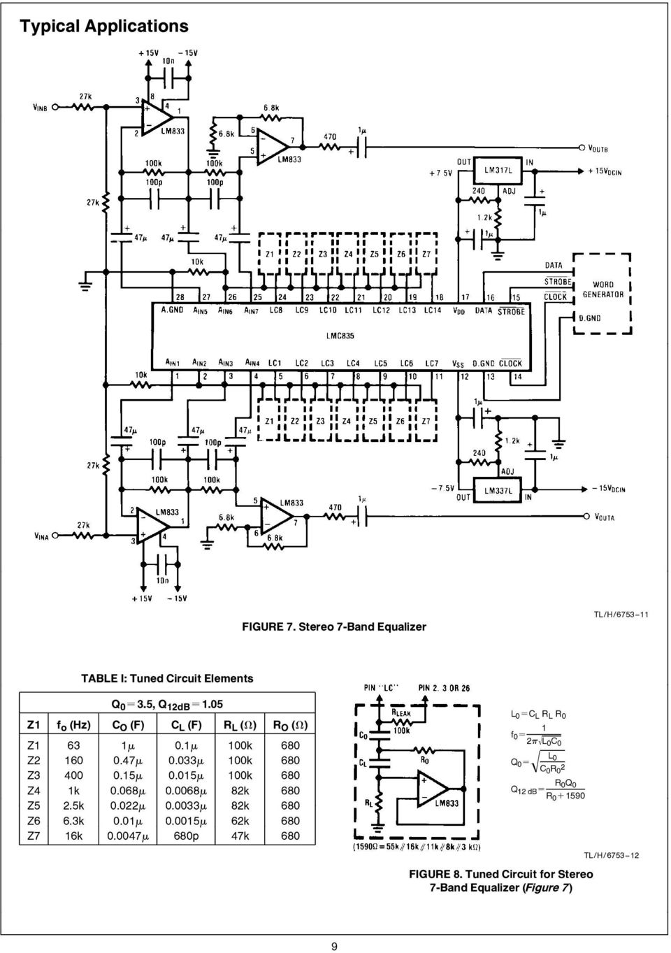 hight resolution of lmc835 lmc835 digital controlled graphic equalizer pdf band graphic equalizer circuit diagram design using lmc835