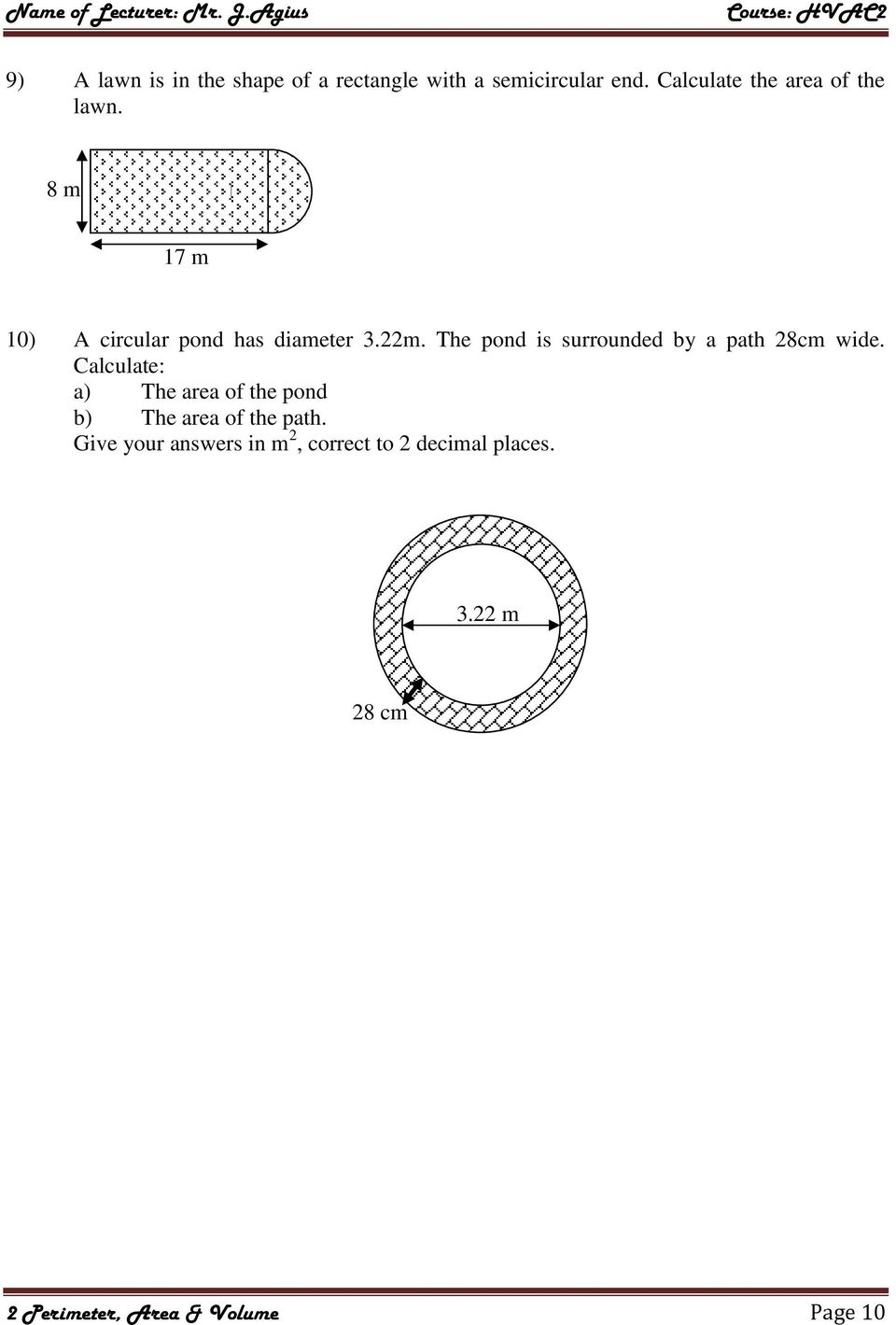 Unit 11 Volume And Surface Area Homework 2 Area Of Sectors
