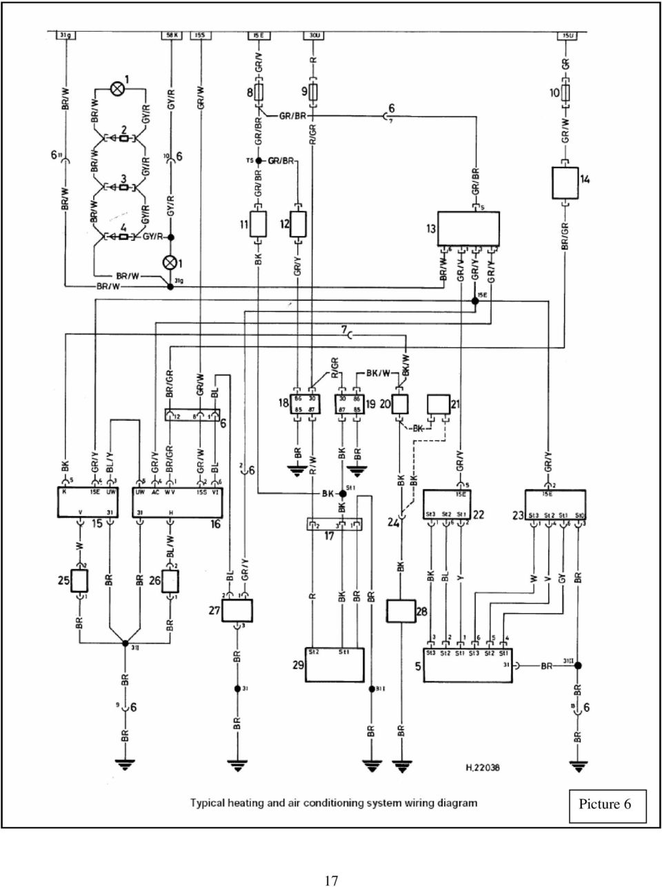 hight resolution of 18 key to air conditioning system wiring diagram picture 6 1 light for heater controls 2 light diode iii 3 light diode ii 4 light diode i 5