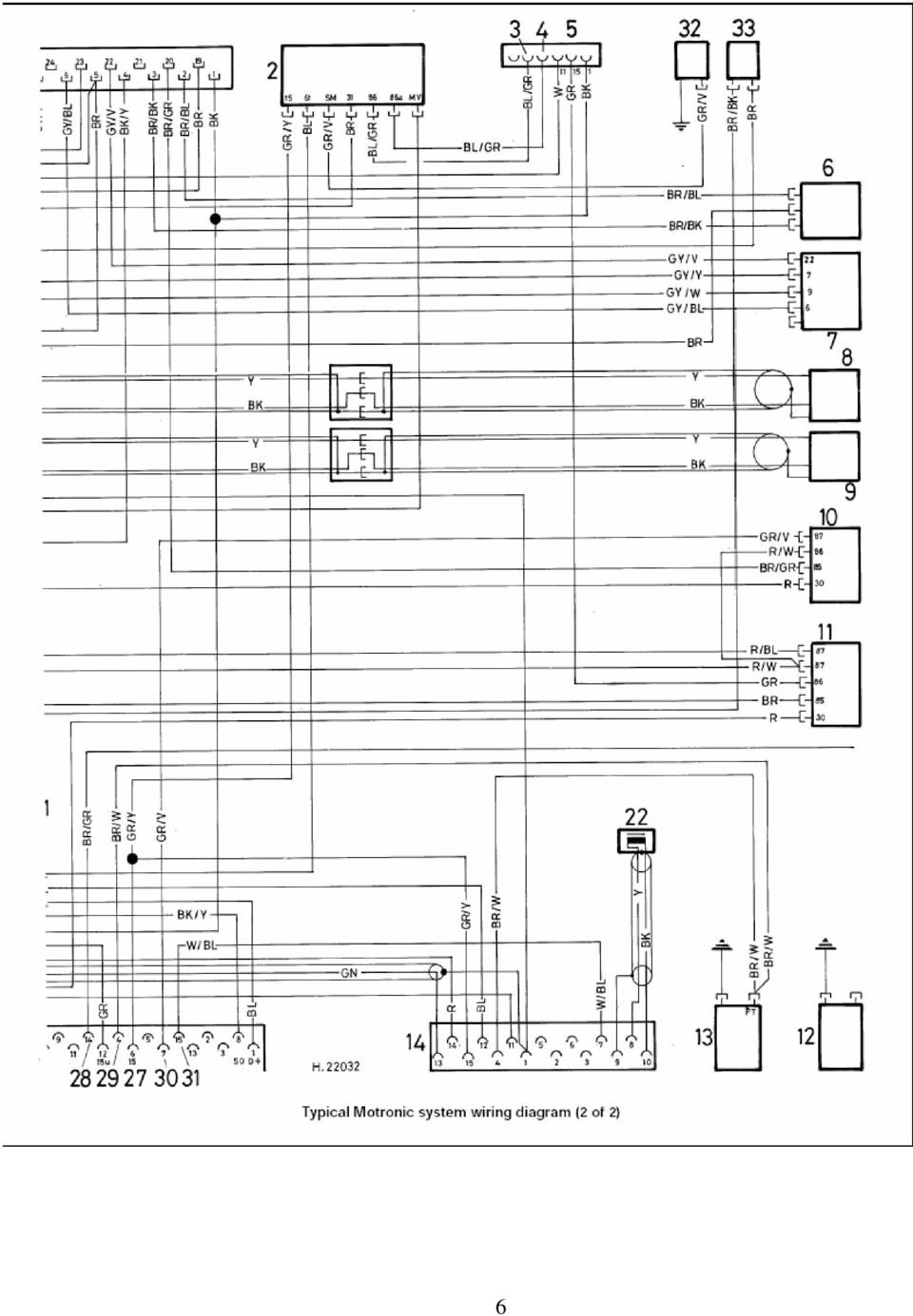 medium resolution of 7 key to motronic engine control system wiring diagram picture 1 1 1 2 1 electronic control unit ecu 18 distributor 2 speed control relay 19