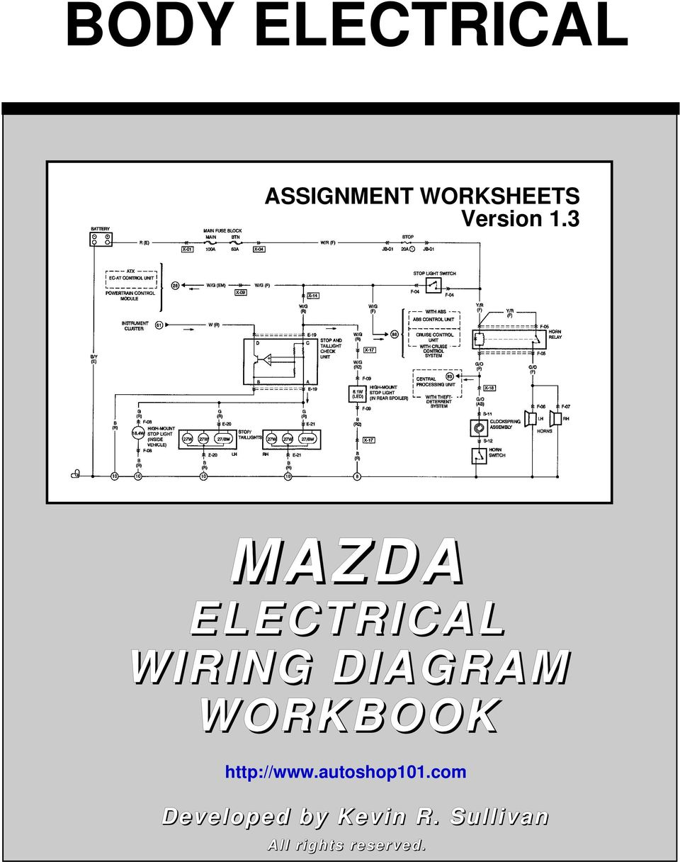 medium resolution of body electrical mazda pdf 3 mazda electrical wiring diagram workbook