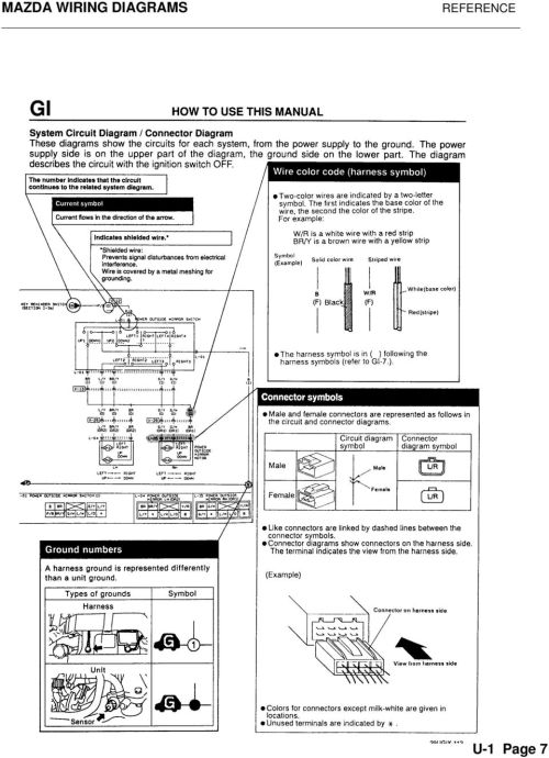 small resolution of 10 mazda wiring diagrams reference u 1 page 8
