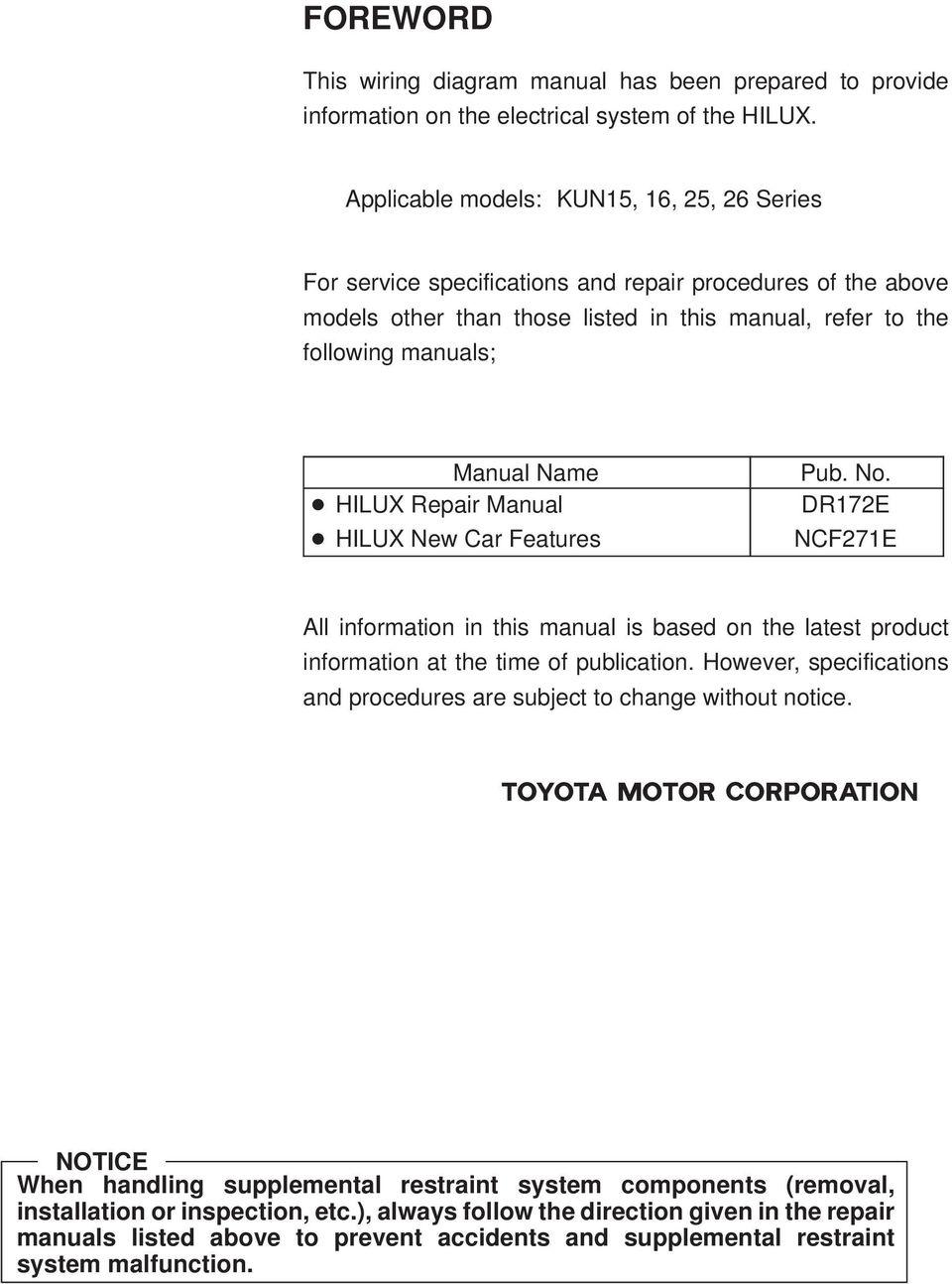medium resolution of epair manual hiux new car features pub no d7e ncf7e ll information in this