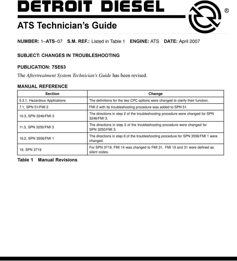 The Aftertreatment System Technicians Guide has been