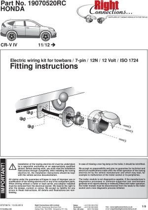 Factory Fit Vw T5 Towbar Wiring Diagram  Wiring Diagram