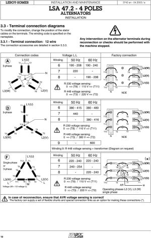 Users guide and maintenance manual Leroy Somer