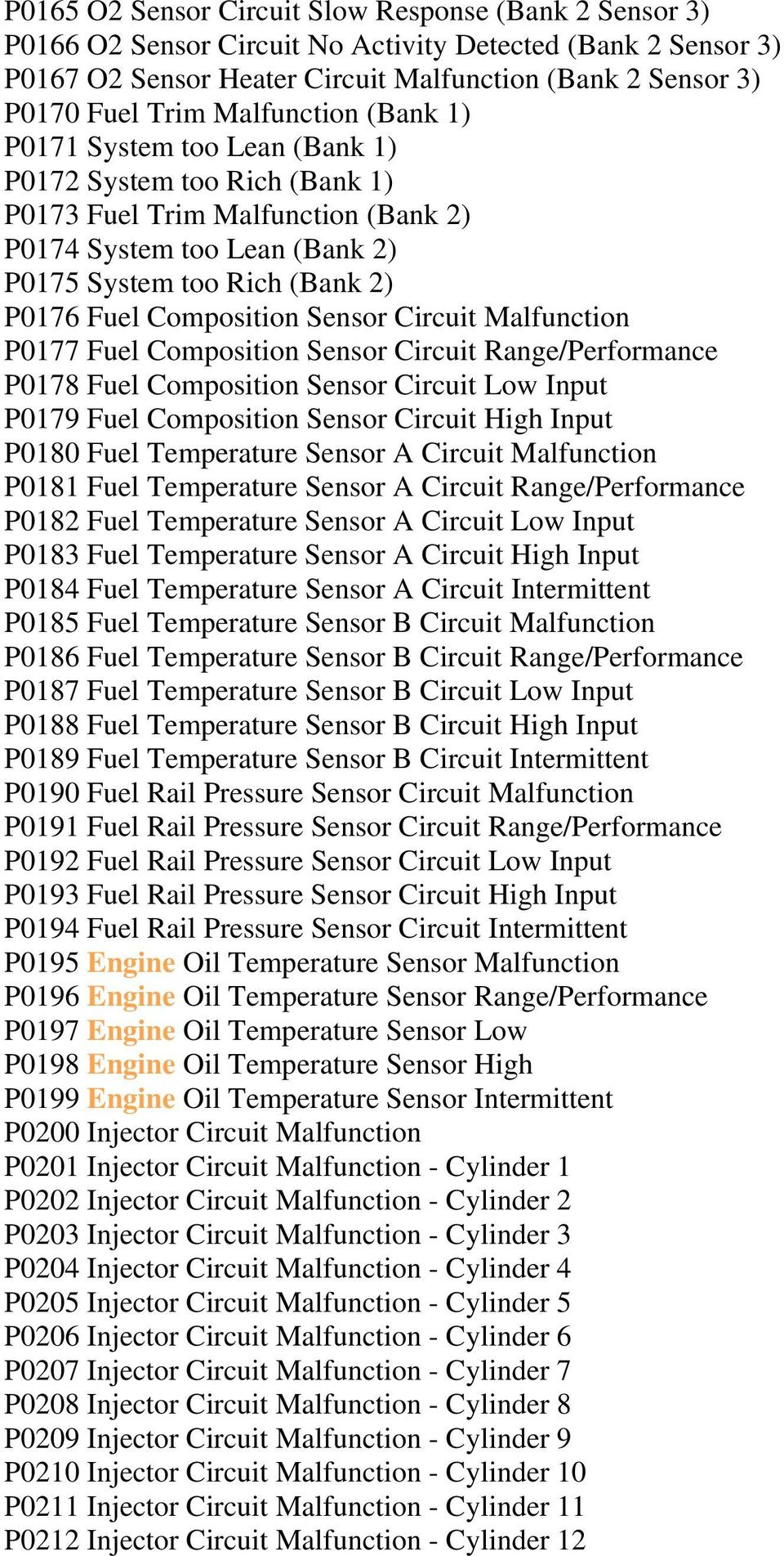 medium resolution of composition sensor circuit malfunction p0177 fuel composition sensor circuit range performance p0178 fuel composition sensor