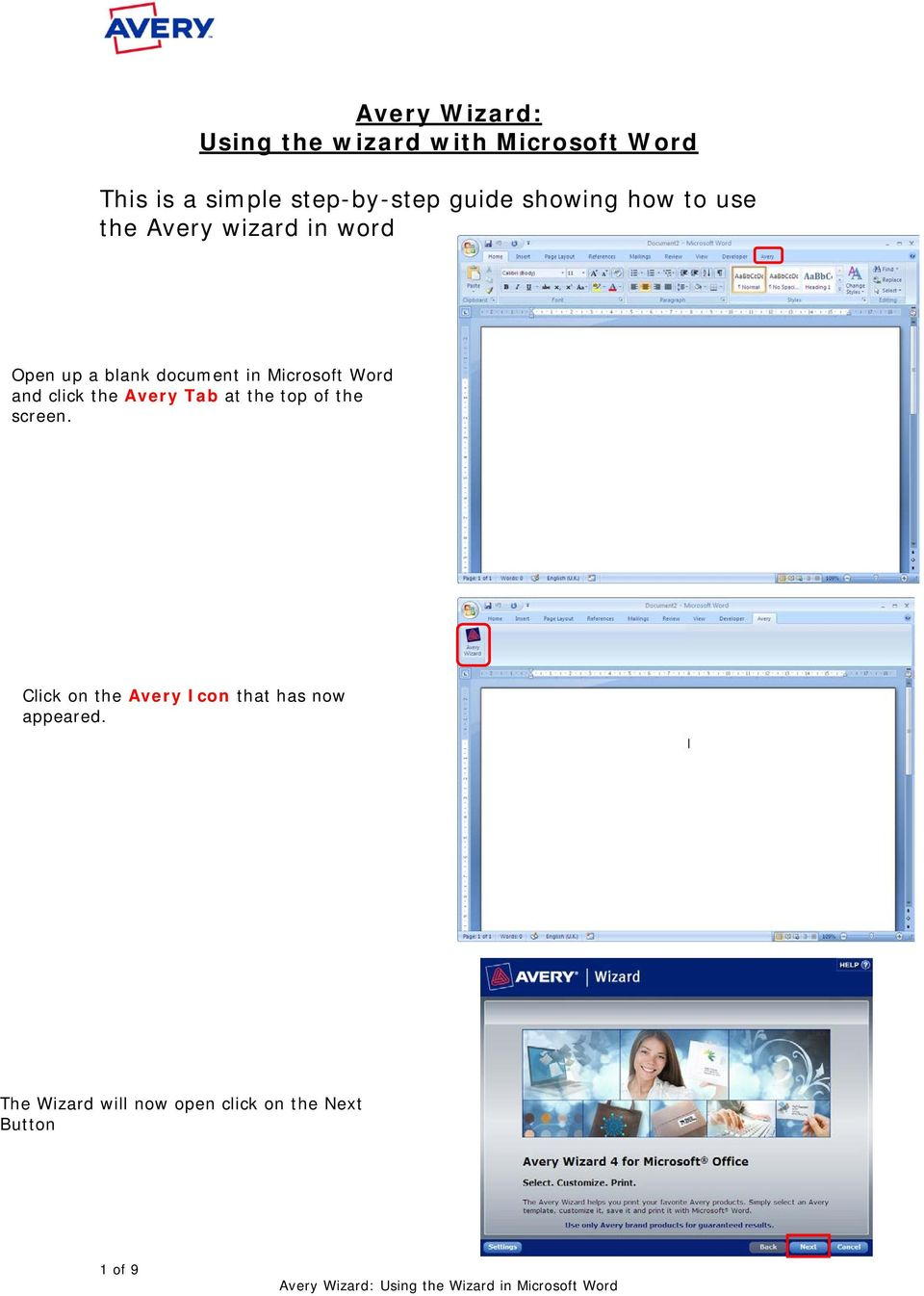 Avery Wizard For Microsoft Word : avery, wizard, microsoft, Avery, Wizard:, Using, Wizard, Microsoft, Word., Simple, Step-by-step, Guide, Showing, Download