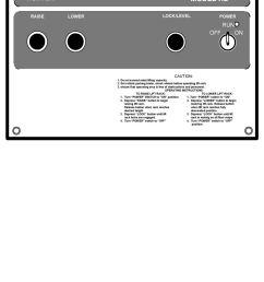 depress raise button to begin raising lift rack release button when rack reaches desired height [ 960 x 1377 Pixel ]