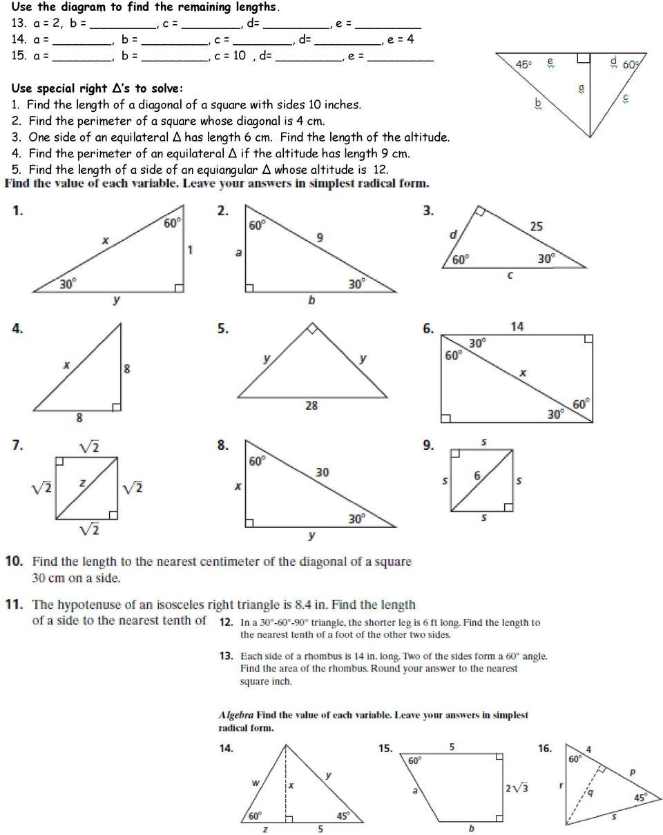 hight resolution of Pythagorean Theorem: 9. x PDF Free Download
