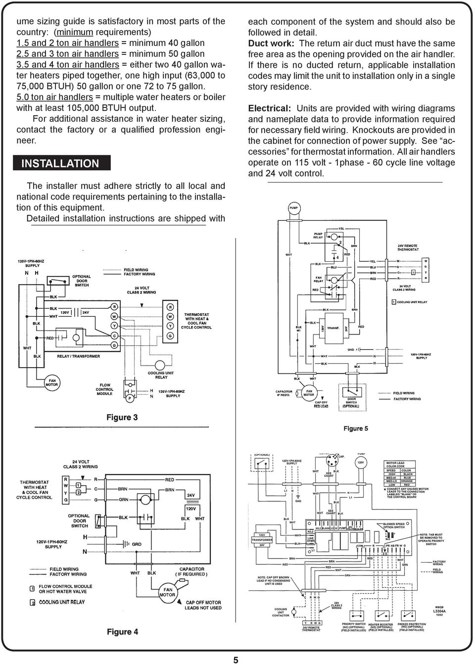 hight resolution of 5 0 ton air handlers multiple water heaters