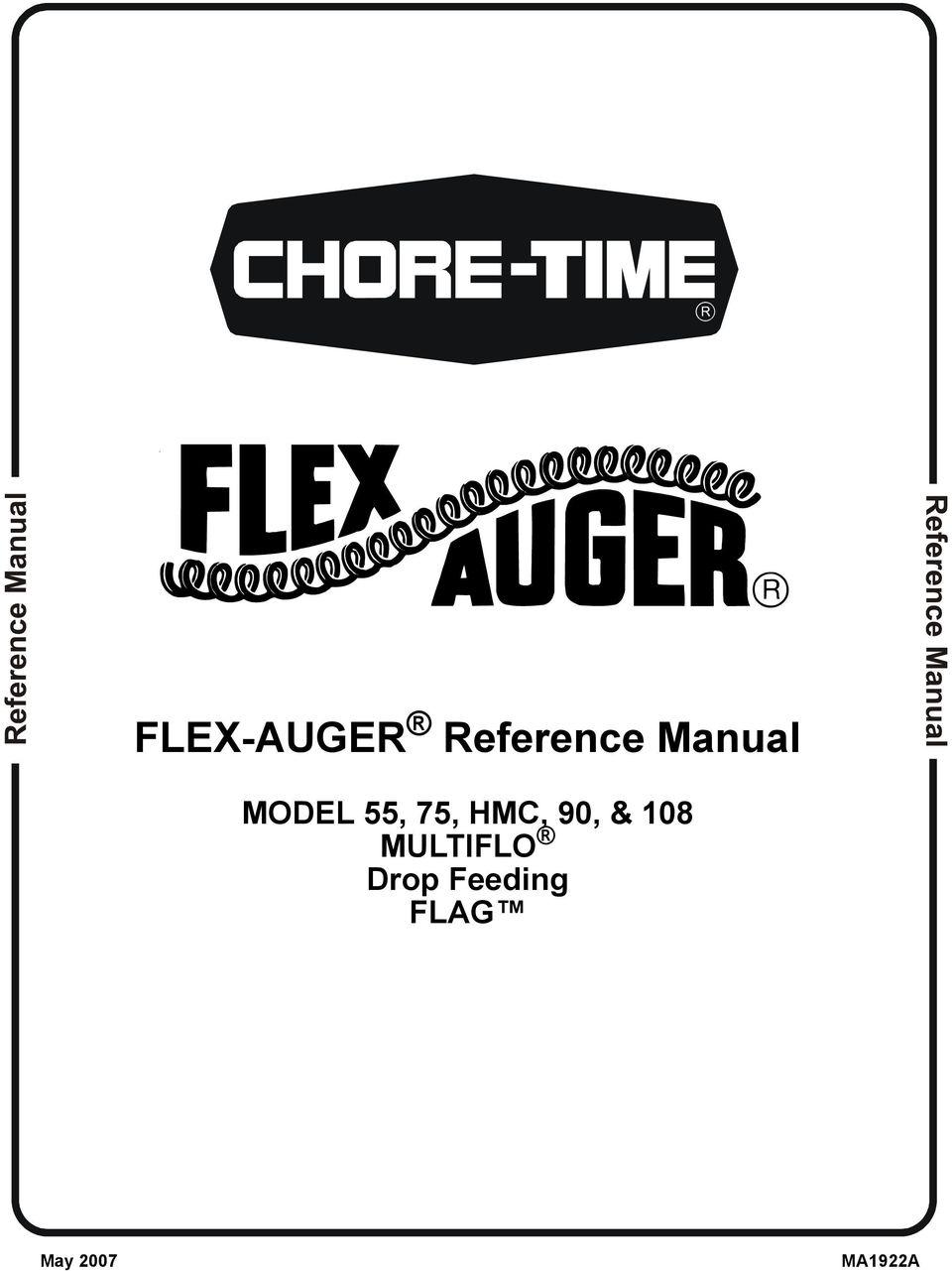 FLEX-AUGER Reference Manual. MODEL 55, 75, HMC, 90, & 108