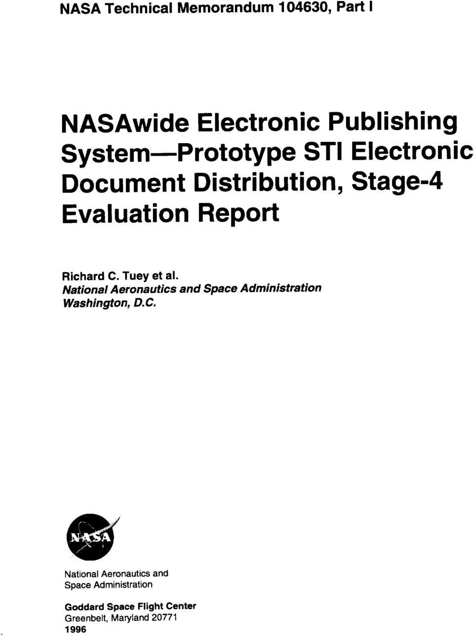 NASAwide Electronic Publishing System_Prototype STI