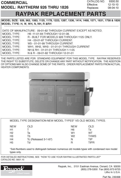 small resolution of date of manufacture 09 01 82 through current except as noted model