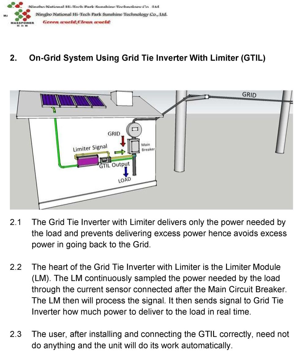 medium resolution of 2 the heart of the grid tie inverter with limiter is the limiter module lm