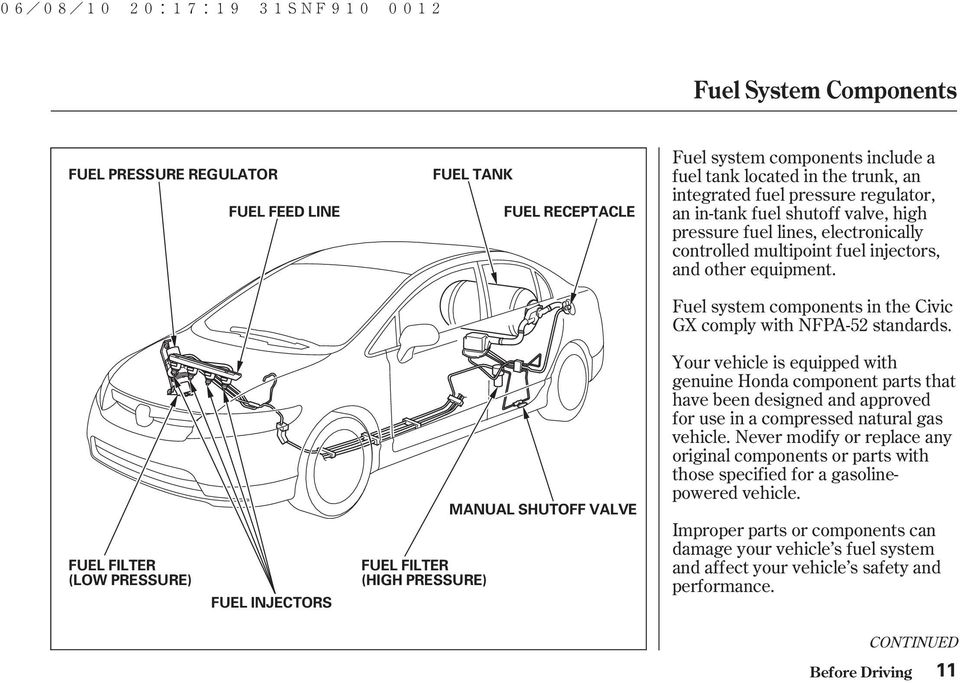 Circuit Electric For Guide: 2007 Honda Civic Fuel Filter