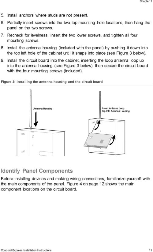 small resolution of concord express installation instructions 11 install the antenna housing included with the panel by pushing it down into the