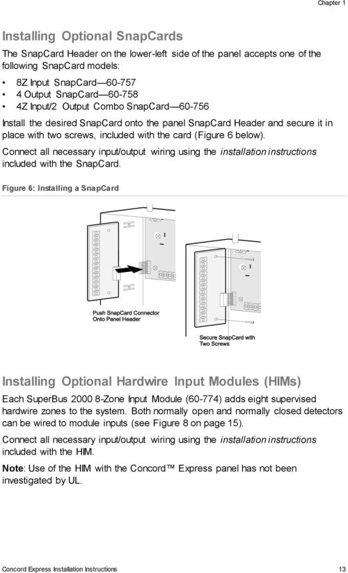 small resolution of connect all necessary input output wiring using the installation instructions included with the snapcard