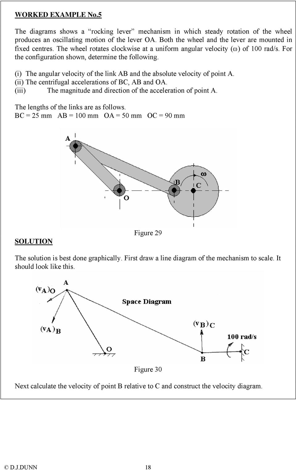 medium resolution of  i the angular velocity of the link ab and the absolute velocity of point