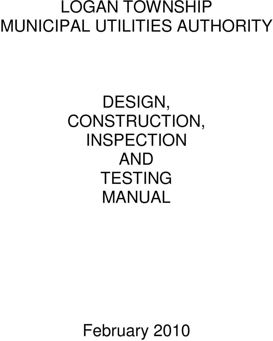 Construction and design manual pdf