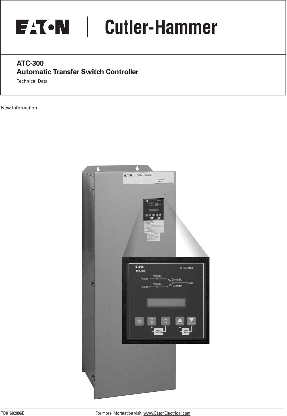 hight resolution of 2 technical data page 2 effective may 2004 atc 300 introduction the cutler hammer atc 300 from eaton s electrical business is a comprehensive