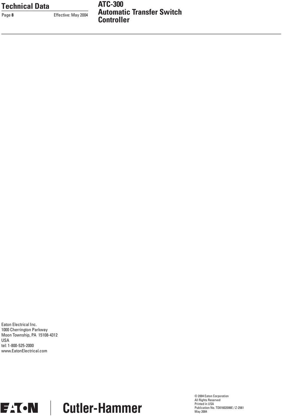 medium resolution of tel 1 800 525 2000 www eatonelectrical