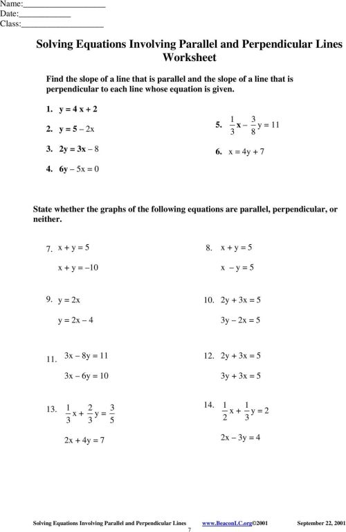 small resolution of Solving Equations Involving Parallel and Perpendicular Lines Examples - PDF  Free Download