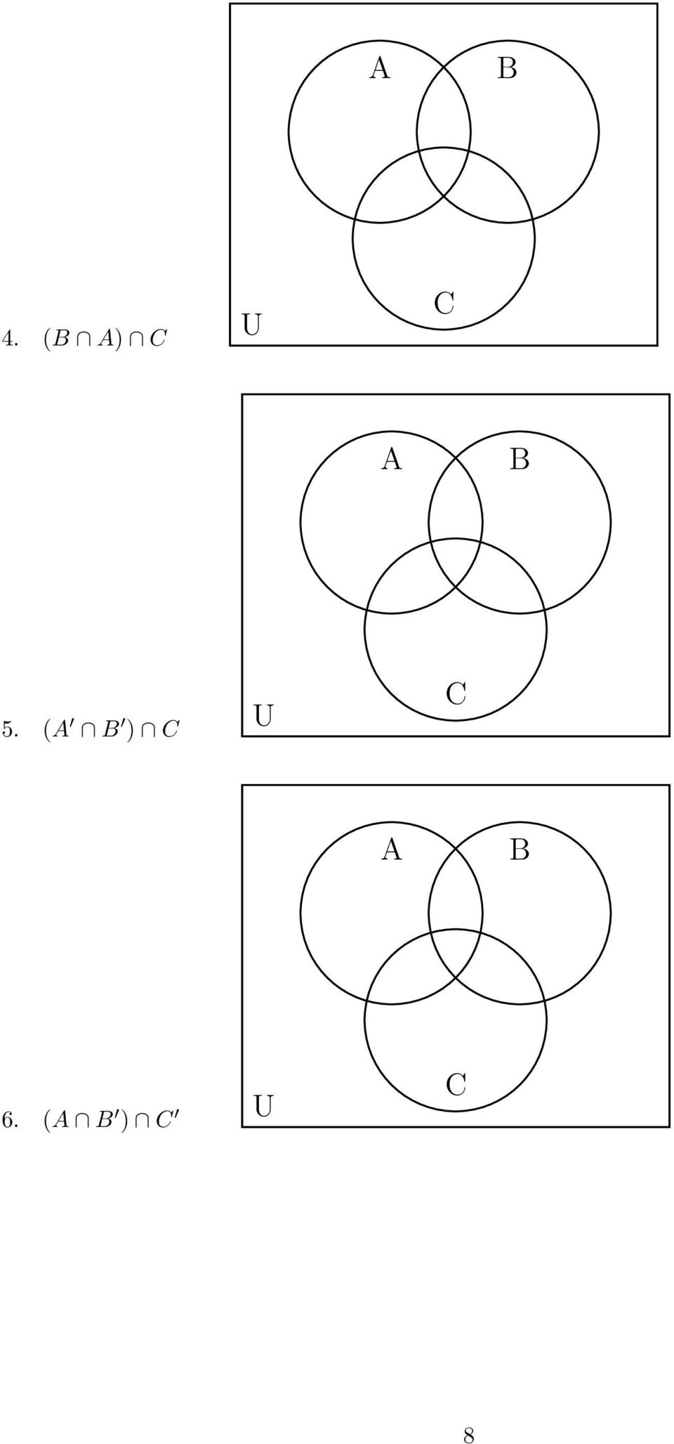 hight resolution of  the cardinal number formula for any two sets and n n n n examples 1 se the numerals representing the cardinalities in the venn diagrams