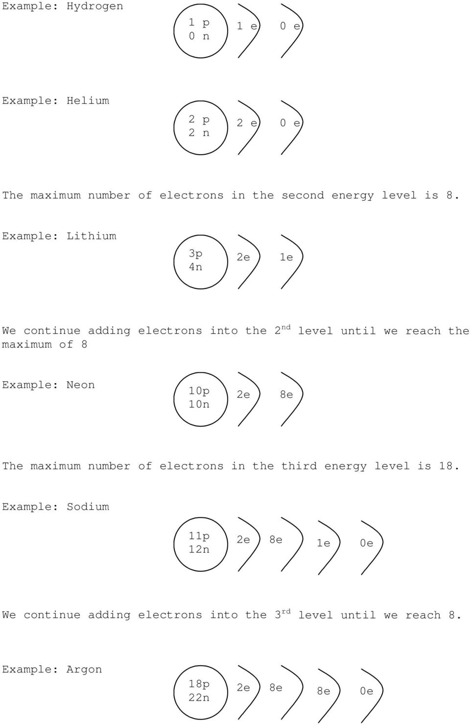 medium resolution of example lithium 3p 4n 1e we continue adding electrons into the 2 nd level until