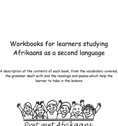 Pret met Afrikaans. Workbooks for learners studying Afrikaans as a second  language - PDF Free Download [ 1204 x 960 Pixel ]