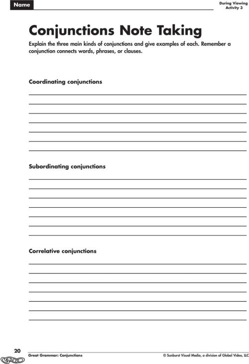 small resolution of Conjunctions Grades PDF Free Download