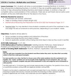 Mathematical Reasoning. Lesson 6: Fractions Multiplication and Division.  LESSON 6: Fractions Multiplication and Division - PDF Free Download [ 1306 x 960 Pixel ]