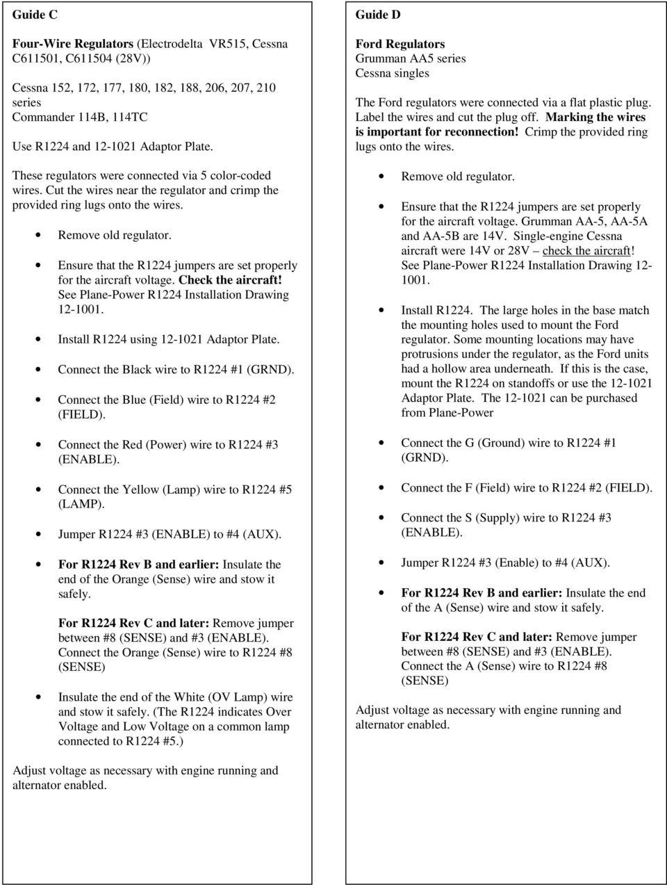 medium resolution of  cessna b alternator wiring diagram on aeroelectric list archive browser on r1224 regulator installation instructions pdf on