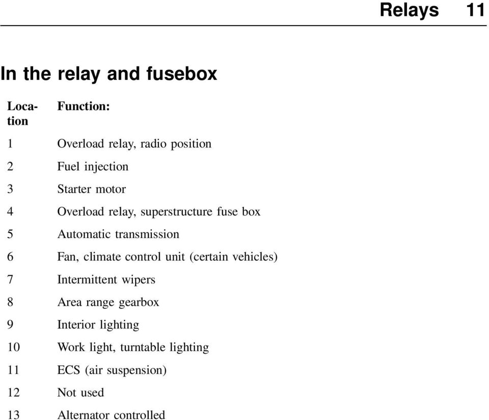 medium resolution of fan climate control unit certain vehicles 7 intermittent wipers 8 area range gearbox