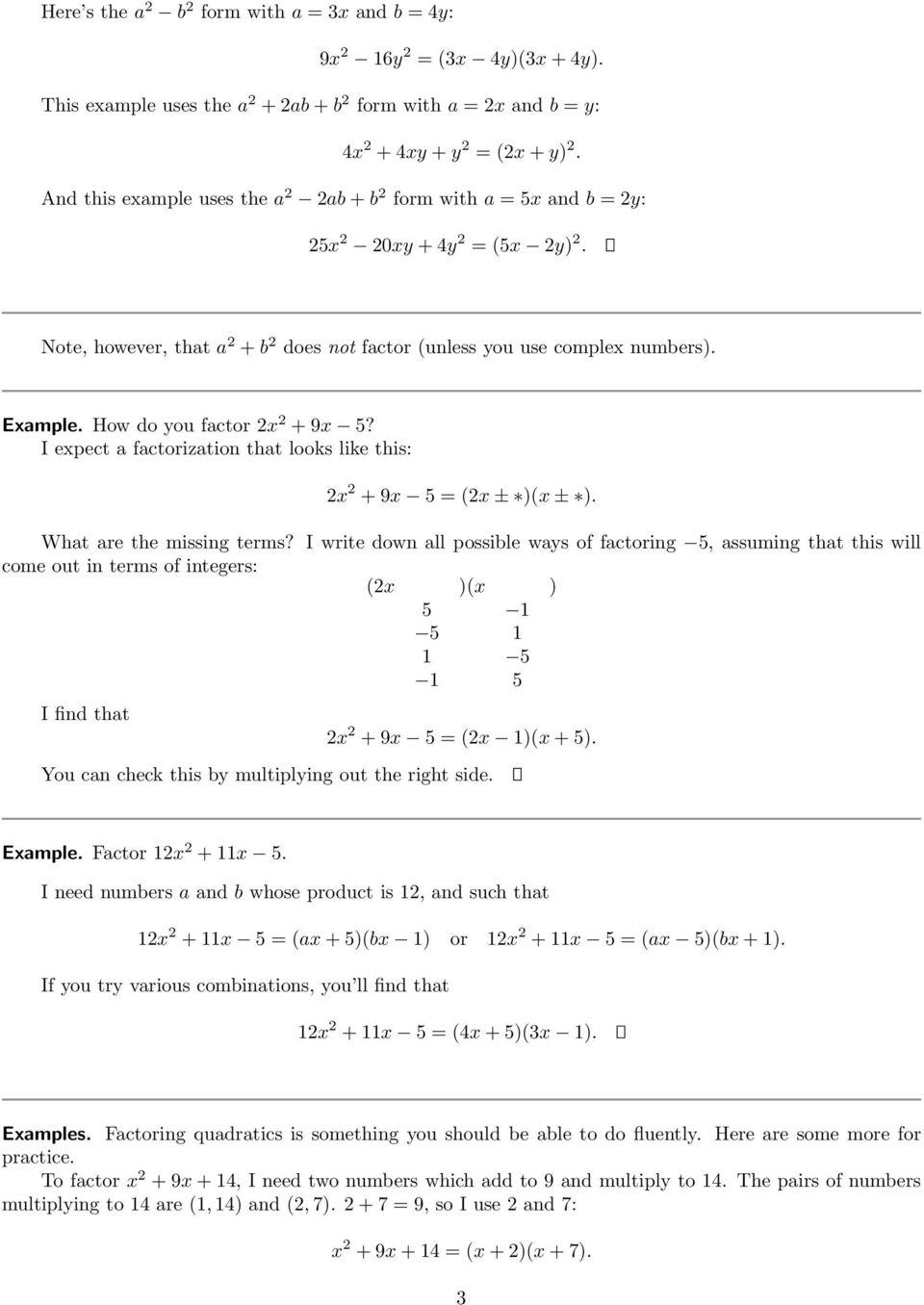 factoring polynomials pdf free download