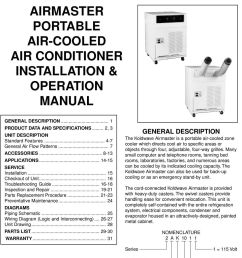 wiring airmaster portable air cooled air conditioner installation on airmaster fan company parts  [ 960 x 1378 Pixel ]