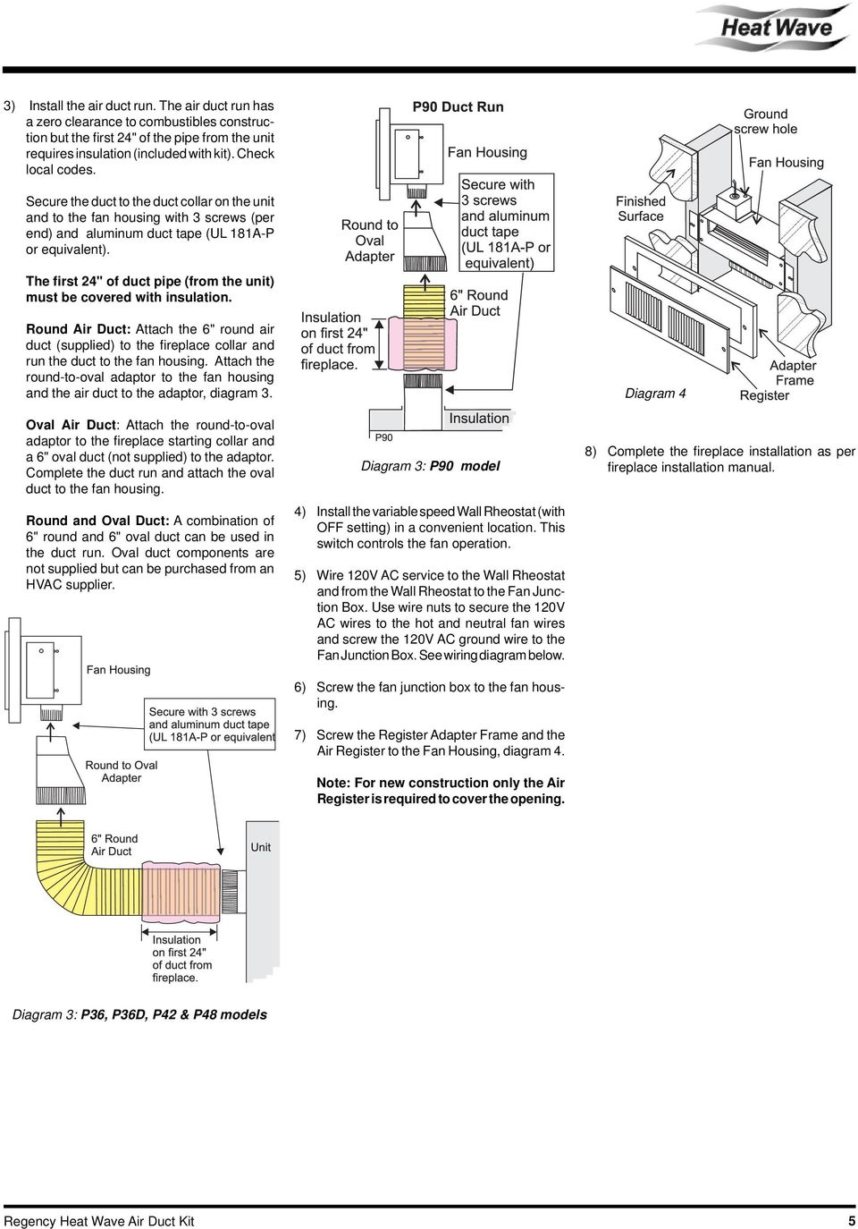 hight resolution of the first 24 of duct pipe from the unit must be covered with 6 wiring diagram