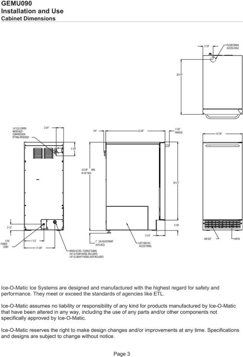 small resolution of access panel air out air in ice o matic ice systems are designed and