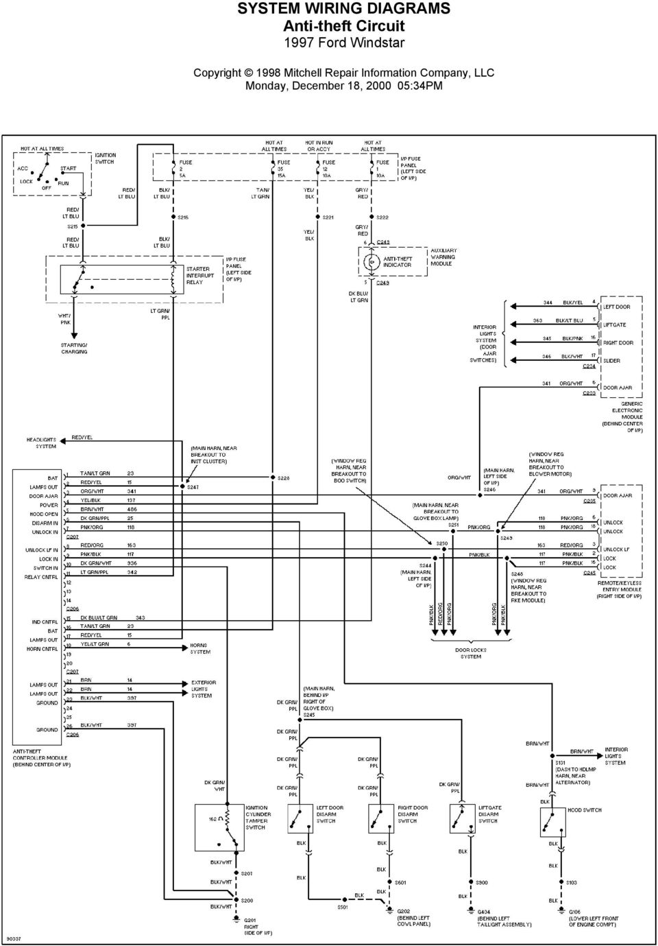Ford F Wiring Diagram 1995 Windstar Ac ~ Wiring Diagram