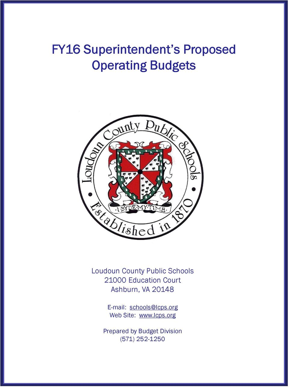 hight resolution of Loudoun County Public Schools FY16 Superintendent s Proposed Operating  Budgets - PDF Free Download